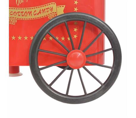 vidaXL Zuckerwattemaschine mit Rädern 480 W Rot[7/8]