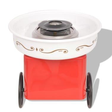 vidaXL Zuckerwattemaschine mit Rädern 480 W Rot[3/8]