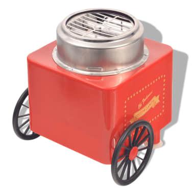 vidaXL Zuckerwattemaschine mit Rädern 480 W Rot[4/8]