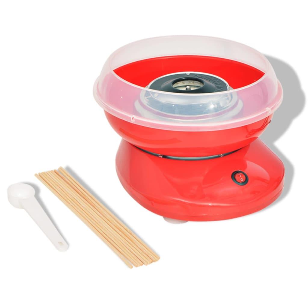 Stroj na cukrovou vatu 480 W červená