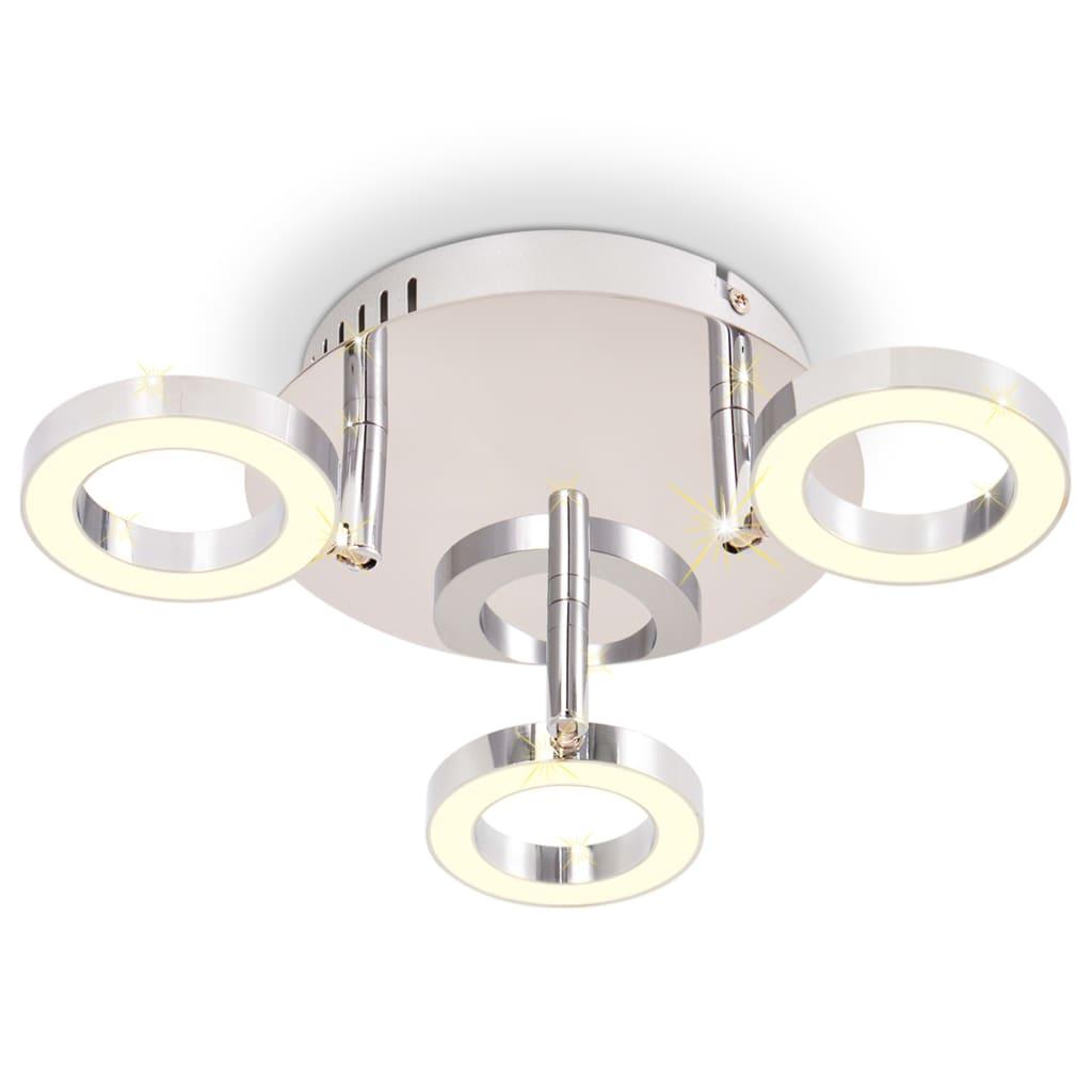 vidaXL Lustră LED cu 3 corpuri de iluminat, alb cald vidaxl.ro