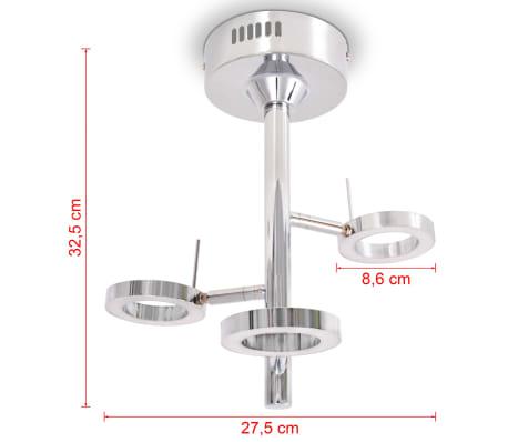vidaXL LED-Deckenleuchte mit 3 Lampen Warmweiß[6/8]