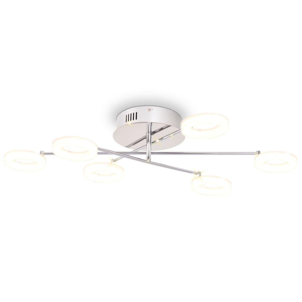 vidaXL Lustră LED cu 6 becuri, alb cald imagine vidaxl.ro