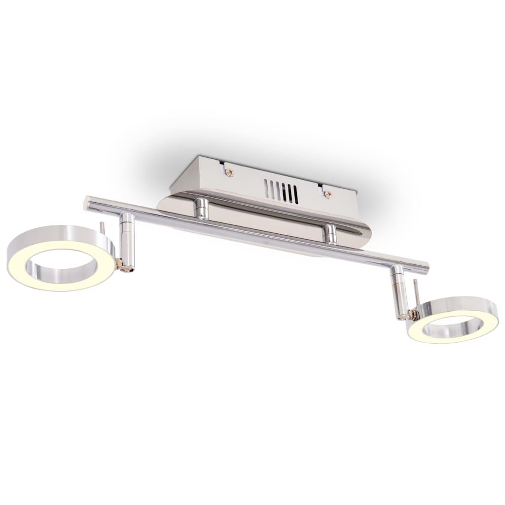 vidaXL Nástěnné / stropní světlo se 2 LED bodovkami, teplé bílé světlo
