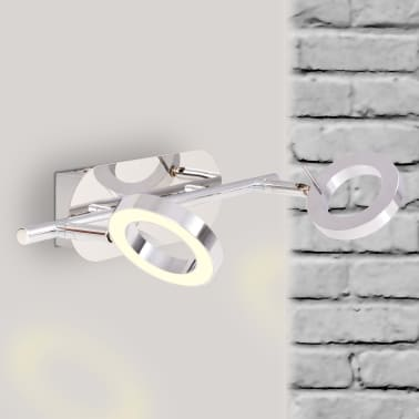 vidaXL LED-Deckenleuchte Wandleuchte mit 2 Lampen Warmweiß[2/15]