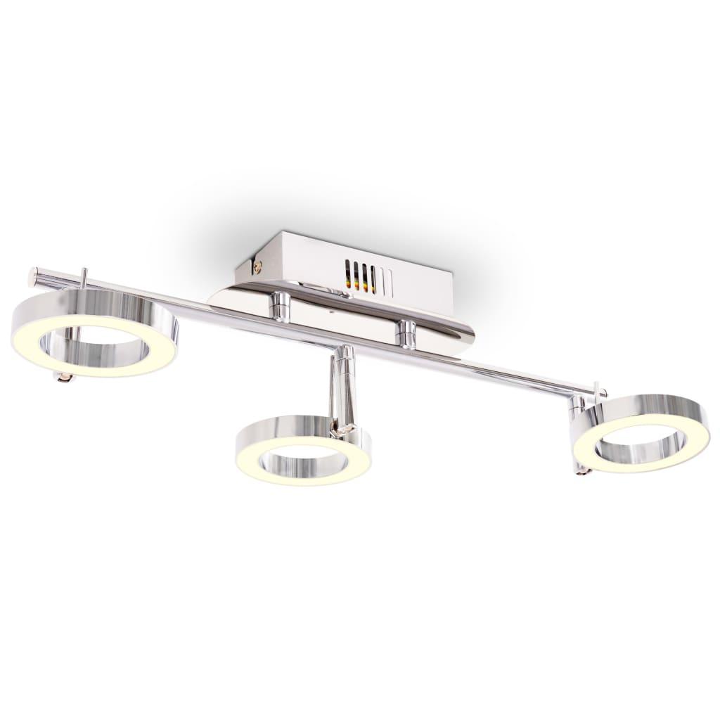 vidaXL Nástěnné / stropní světlo se 3 LED bodovkami, teplé bílé světlo