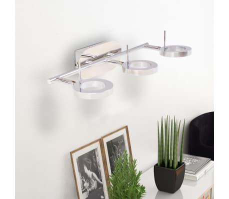 vidaXL LED-Deckenleuchte Wandleuchte mit 3 Lampen Warmweiß[3/15]