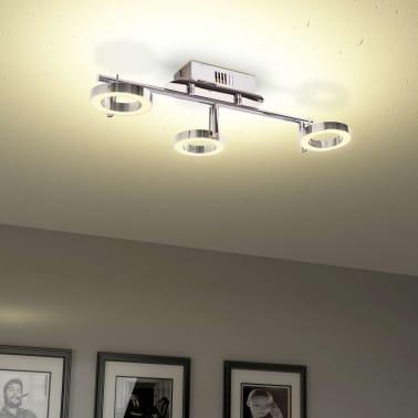 vidaXL LED-Deckenleuchte Wandleuchte mit 3 Lampen Warmweiß[4/15]