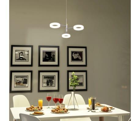vidaXL LED-taklampe med 3 lys varmhvit[3/12]
