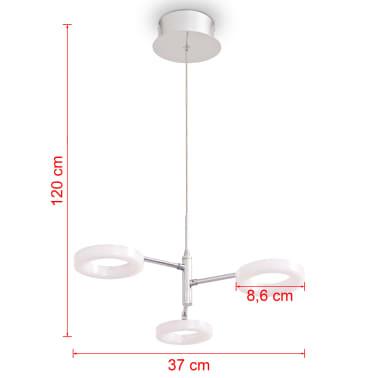 vidaXL LED-taklampe med 3 lys varmhvit[9/12]