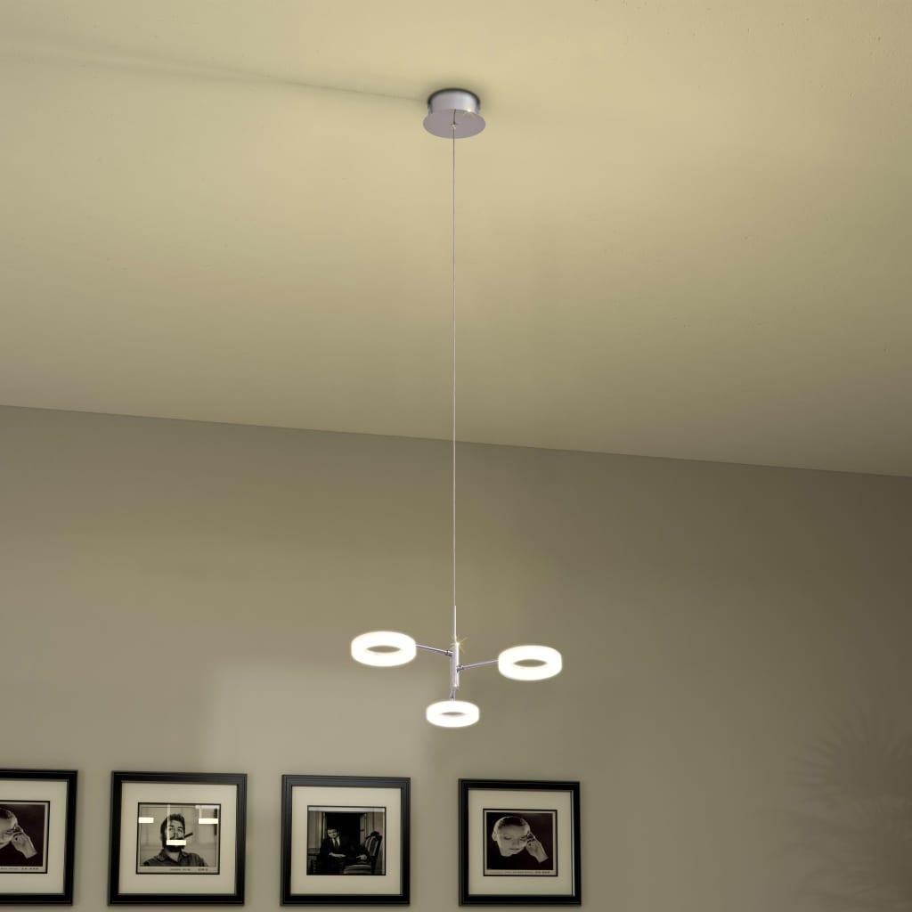 Závěsné svítidlo se 3 LED bodovkami teplé bílé světlo