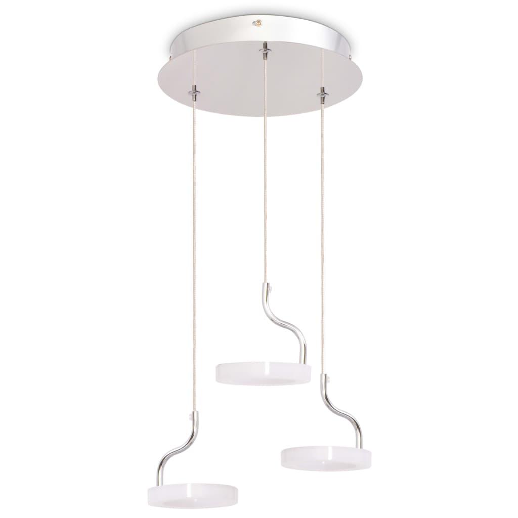 vidaXL Závěsné svítidlo se 3 LED bodovkami, teplé bílé světlo