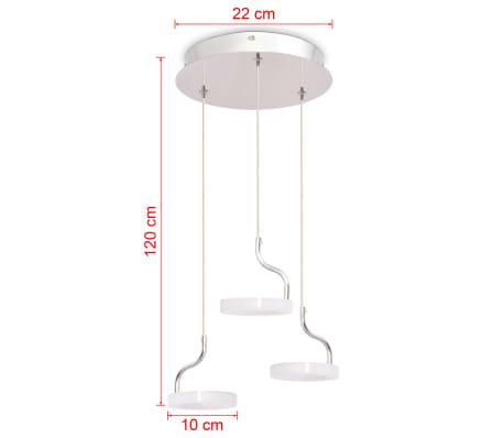 vidaXL LED-Pendelleuchte mit 3 Lampen Warmweiß[8/11]