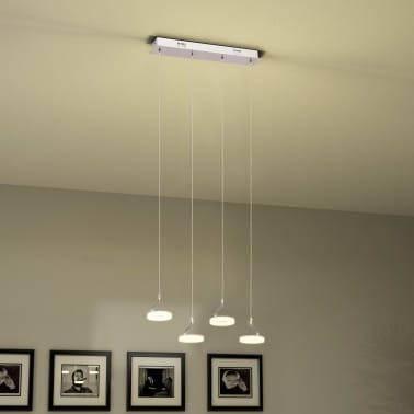 vidaXL Pakabinamas LED šviestuvas su 4 lemputėmis, šilta balta sp.[2/13]