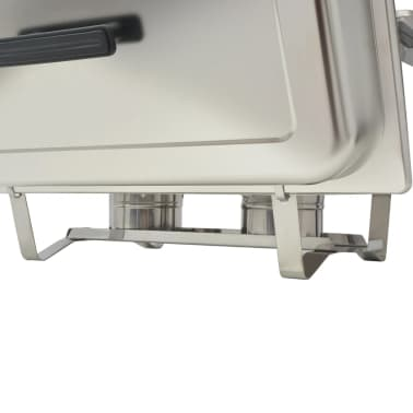 vidaXL Rechaud set roestvrij staal 2-delig[8/9]
