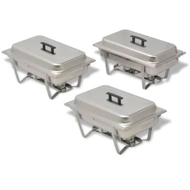 vidaxl chafing dish set 3 tlg edelstahl g nstig kaufen. Black Bedroom Furniture Sets. Home Design Ideas
