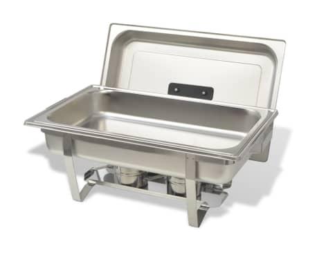 vidaXL Set vase încălzire mâncare, 4 piese, oțel inoxidabil[4/9]