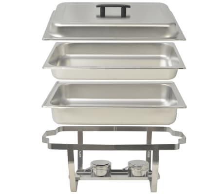 vidaXL Set vase încălzire mâncare, 4 piese, oțel inoxidabil[5/9]