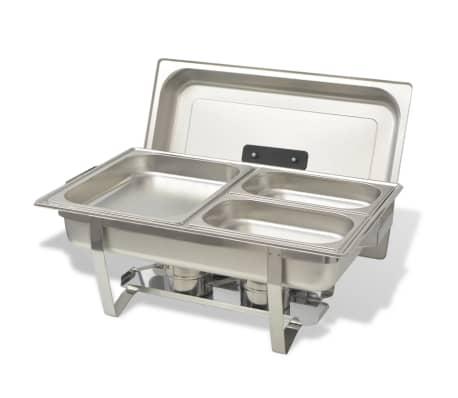 vidaXL Set vase încălzire mâncare, 4 piese, oțel inoxidabil[6/9]