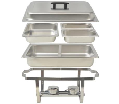 vidaXL Set vase încălzire mâncare, 4 piese, oțel inoxidabil[7/9]