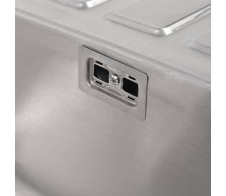 Fräscha Handla vidaXL Diskbänk med avlopp och vattenlås rostfritt stål VD-77