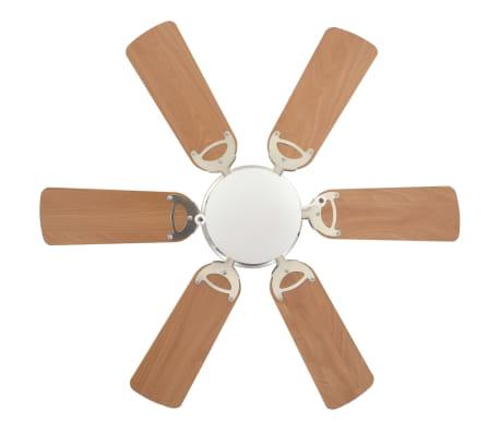 vidaXL Ventilateur de plafond orné avec lumière 82 cm Marron clair[3/11]