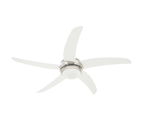 vidaXL Puošnus lubų ventiliatorius su šviesele, 128cm, baltas[2/14]