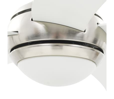 vidaXL Plafondventilator met lamp 128 cm wit[9/14]