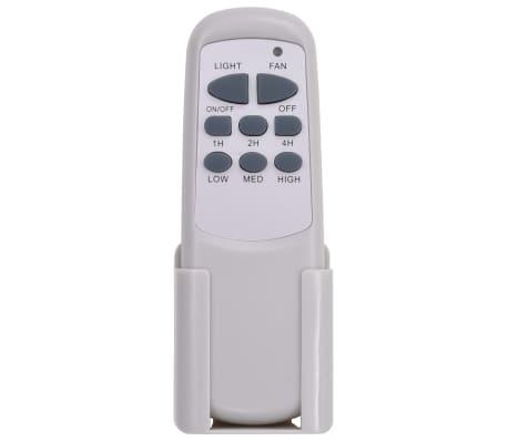 vidaXL Plafondventilator met lamp 128 cm wit[10/14]