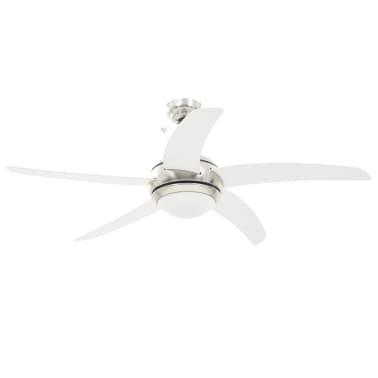 vidaXL Puošnus lubų ventiliatorius su šviesele, 128cm, baltas[3/14]