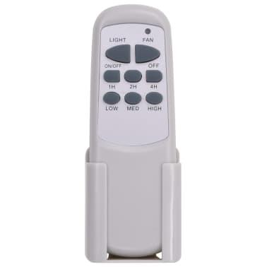 vidaXL Puošnus lubų ventiliatorius su šviesele, 128cm, baltas[10/14]