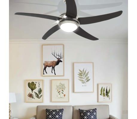vidaXL Plafondventilator met lamp 128 cm bruin[11/14]