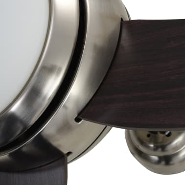 vidaXL Plafondventilator met lamp 128 cm bruin[10/14]
