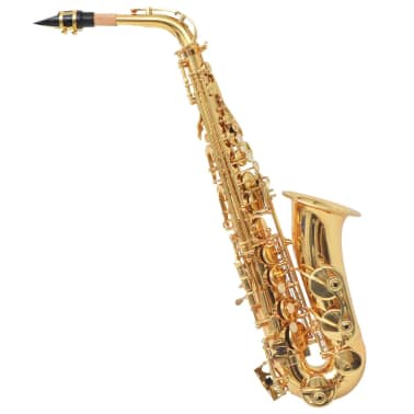vidaXL Alto Saxophone Yellow Brass with Gold Lacquer Eb[1/6]