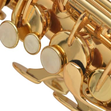 vidaXL Alto Saxophone Yellow Brass with Gold Lacquer Eb[3/6]
