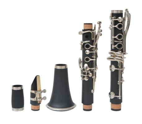 vidaXL Clarinete com estojo macio, 17 chaves Bb[7/10]