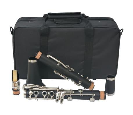 vidaXL Clarinete com estojo macio, 17 chaves Bb[9/10]