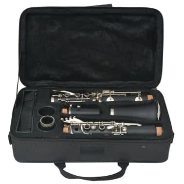 vidaXL Clarinete com estojo macio, 17 chaves Bb[8/10]