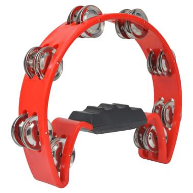 vidaXL Tamburin Set 3 Stk. Kunststoff Rot[3/4]