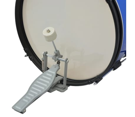 vidaXL Complete Drum Kit Powder-coated Steel Blue Junior[4/8]