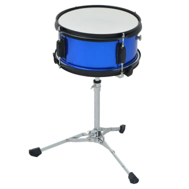 vidaXL Complete Drum Kit Powder-coated Steel Blue Junior[5/8]