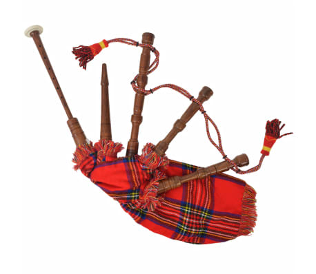 vidaXL Cornemuse écossaise Great Highland d'enfants tartan rouge Royal Stewart