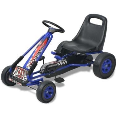 vidaXL Mașină Go Kart cu scaun reglabil, albastru[1/6]