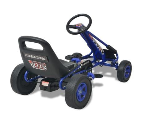 vidaXL Mașină Go Kart cu scaun reglabil, albastru[4/6]