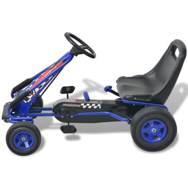 vidaXL Mașină Go Kart cu scaun reglabil, albastru[2/6]