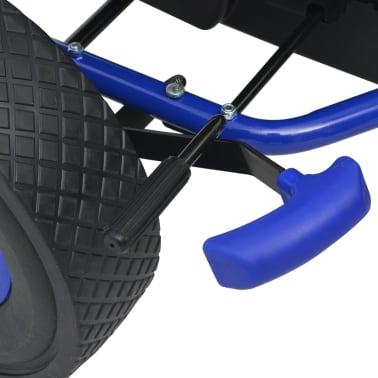 vidaXL Mașină Go Kart cu scaun reglabil, albastru[5/6]