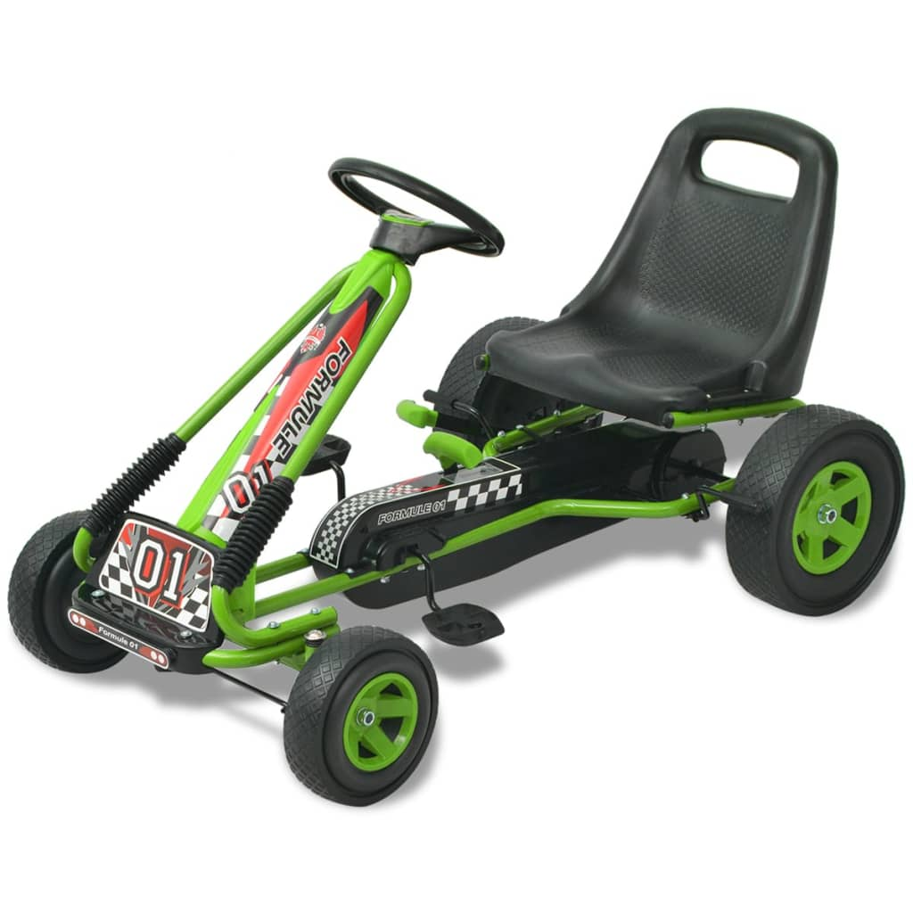 vidaX Kart cu pedale cu șezut reglabil verde poza 2021 vidaXL