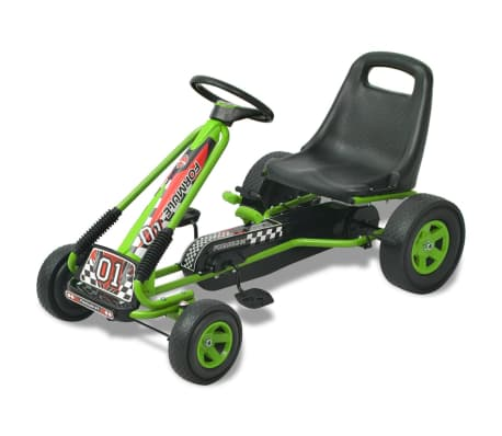 vidaXL Pedal Go Kart with Adjustable Seat Green[1/6]
