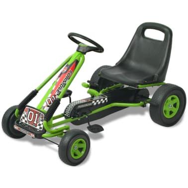 vidaX Kart cu pedale cu șezut reglabil verde[1/6]