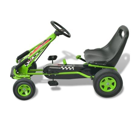 vidaX Kart cu pedale cu șezut reglabil verde[2/6]